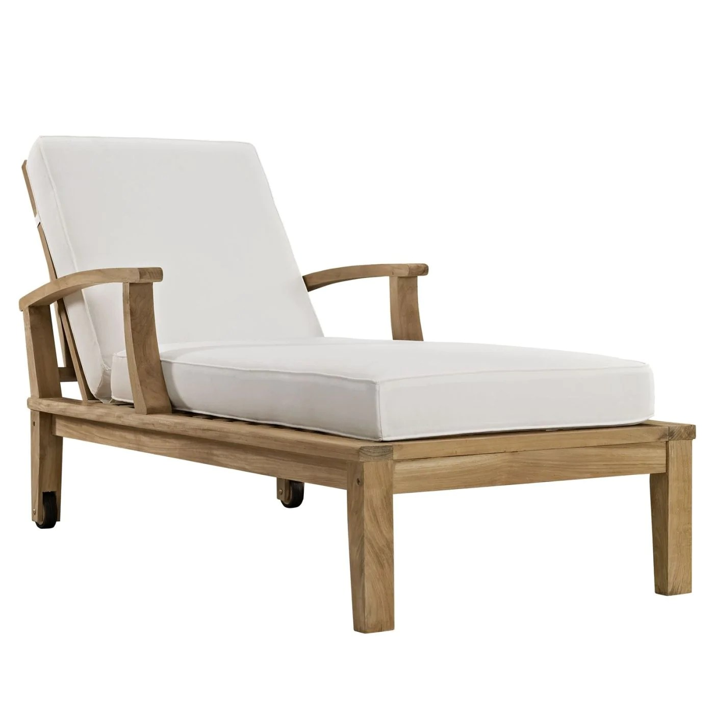 Teak Chaise Lounge Chairs Modway Outdoor Lounge Chairs On Sale Eei 1151 Nat Whi Set Marina Outdoor Patio Teak Single Chaise Only Only 742 75 At Contemporary Furniture