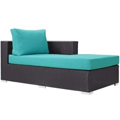 Turquoise Lounge Chair Wedding Cover Hire Wolverhampton Modway Outdoor Chairs On Sale Eei 1843 Exp Whi Convene Patio Fabric Right Arm Chaise Espresso