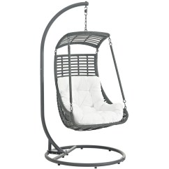 Hanging Patio Swing Chair No Stand Modway Outdoor Lounge Chairs On Sale Eei 2274 Whi Set Jungle With White