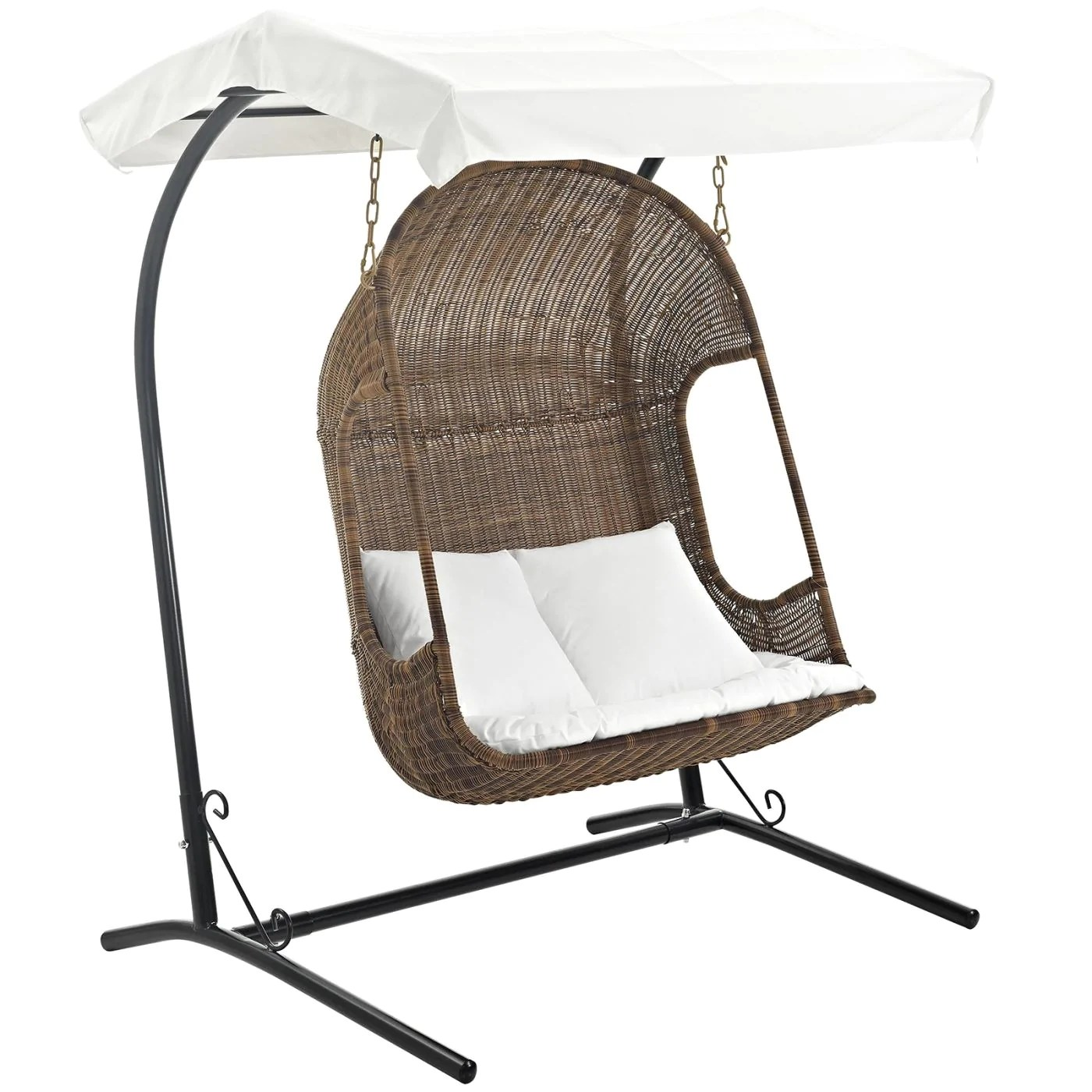 Hanging Patio Chair Modway Outdoor Lounge Chairs On Sale Eei 2278 Brn Whi Set Vantage Outdoor Hanging Patio Swing Chair Only Only 654 00 At Contemporary Furniture