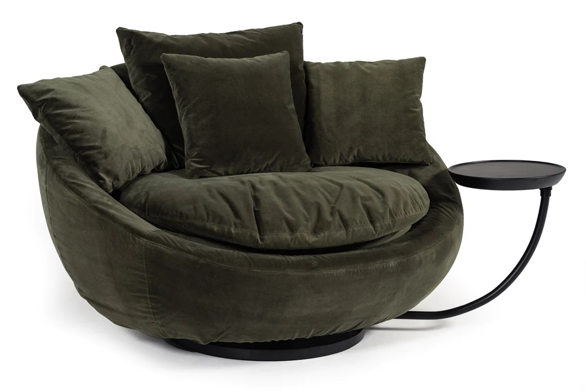 green velvet swivel chair hanging spring spectacular savings on vig furniture vgbbls1619 grn divani