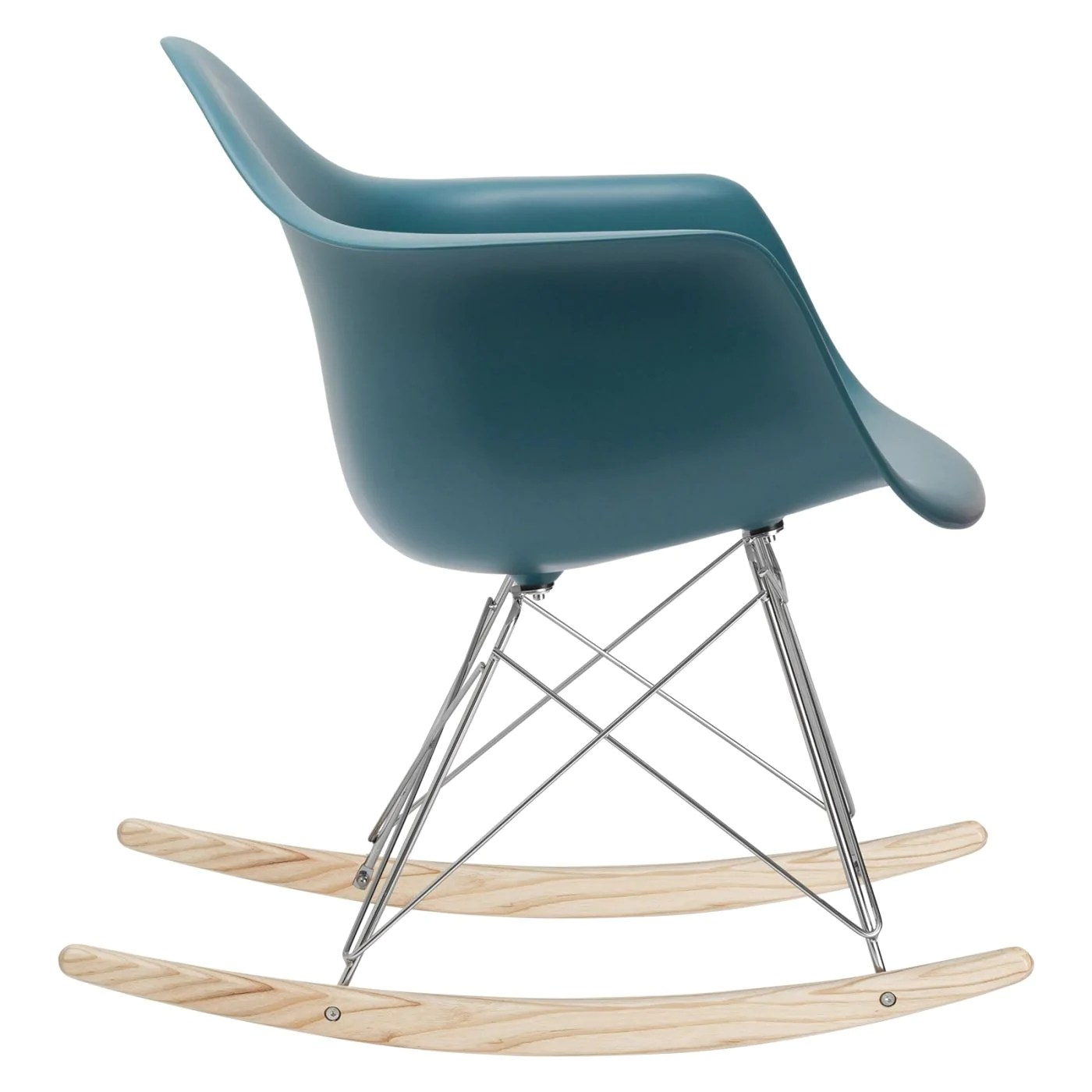 Teal Rocking Chair Edgemod Rocker Lounge Chair In Teal At Contemporary
