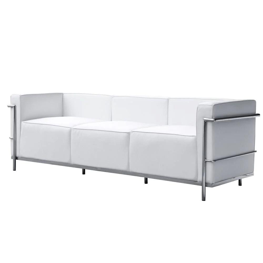 lc3 sofa cheapest 2 seater leather recliner fine mod imports fmi2204 white grand
