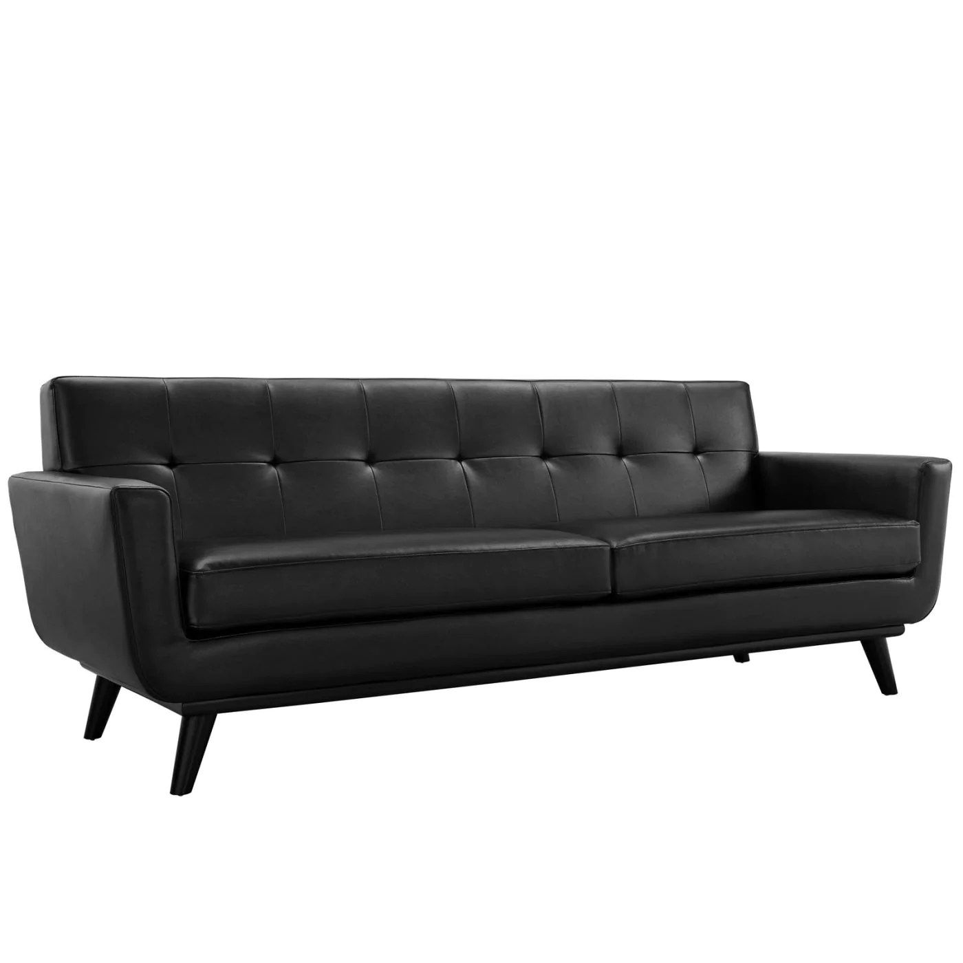 4087 modern bonded leather sectional sofa with recliners harlequin corner furniture village modway sofas on sale eei 1338 blk engage mid century