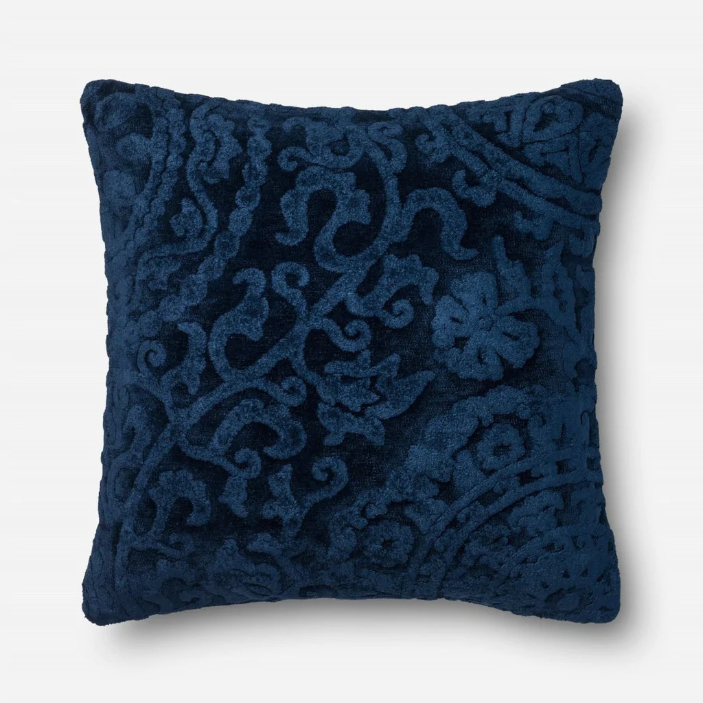 Loloi Rugs Loloi Indigo Decorative Throw Pillow (GPI02) at