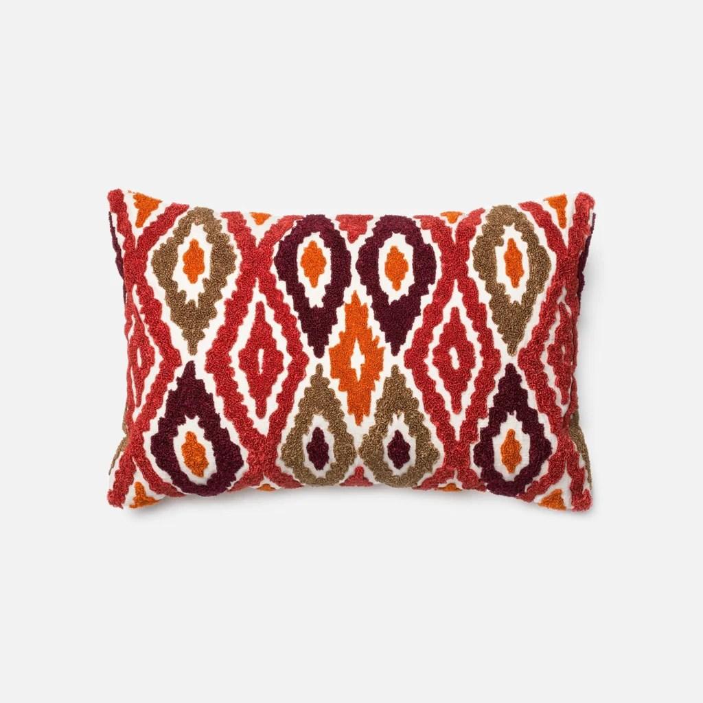 Loloi Rugs Loloi Red / Orange Decorative Throw Pillow