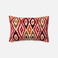 Loloi Rugs Loloi Red / Orange Decorative Throw Pillow