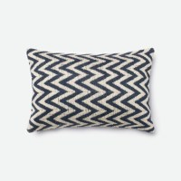 Loloi Rugs Loloi Beige / Navy Decorative Throw Pillow
