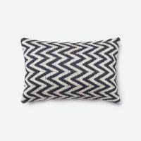 Loloi Rugs Loloi Beige / Navy Decorative Throw Pillow