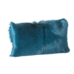 Teal Faux Fur Saucer Chair Adult Bean Bag Moes Home Collection Goat Pillow Bolster Xu 1004