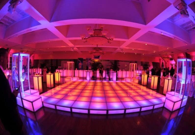 lighted dance floor rentals