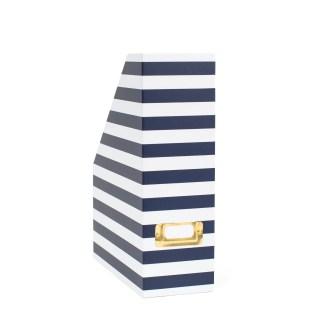 Magazine Box - Navy Stripe
