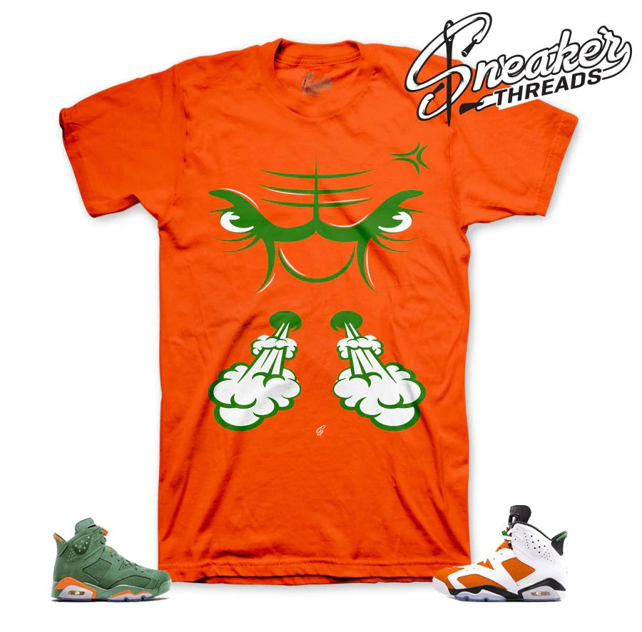 Jordan 6 Gatorade Tee Shirt Match Retro Mike