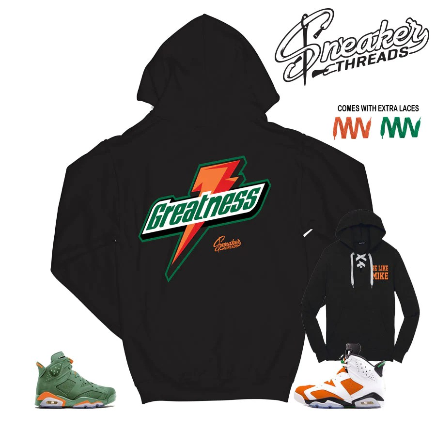 Gatorade Jordan 6 Hooded Sweatshirts Match Retro Shoes