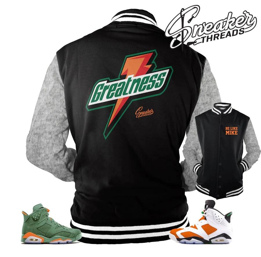 Jordan 6 Gatorade Jacket Match Retro Mike