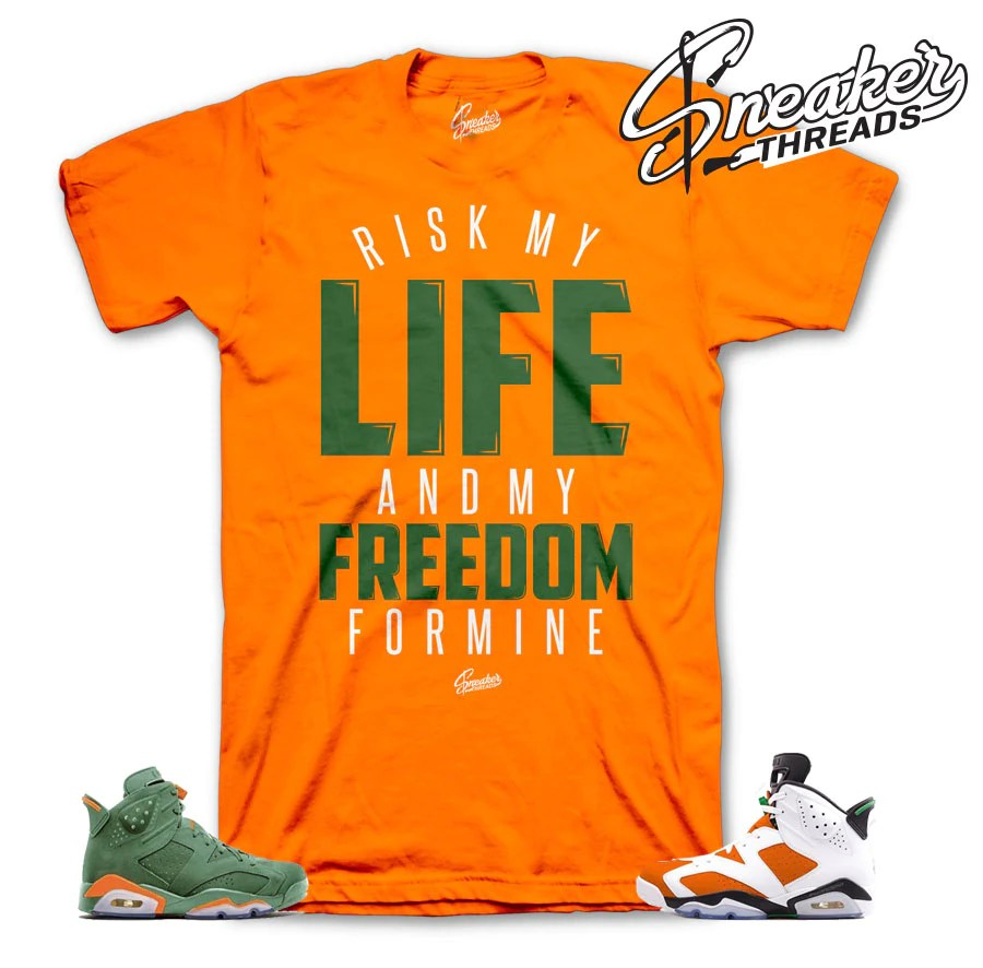 Jordan 6 Gatorade Tees Match Mike Sneaker Shirt