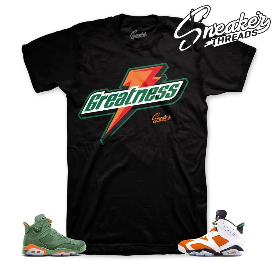 Jordan 6 Gatorade Shirt Match Shoes Sneaker Tee