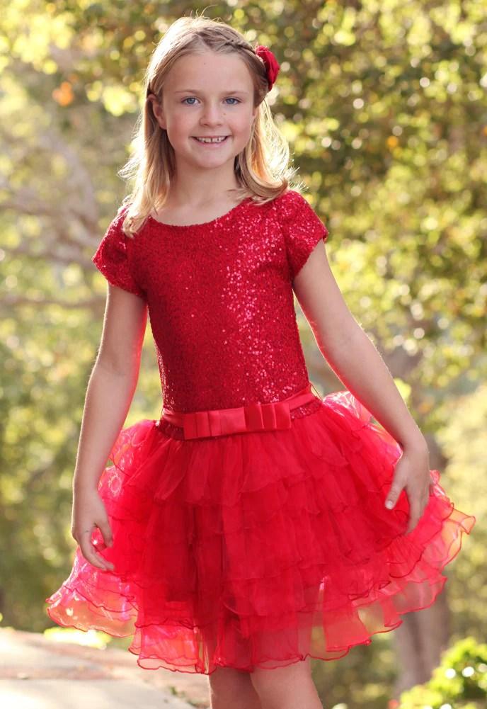 Dolls Amp Divas Red Sequin Tutu Sz 2T 3T 4T Amp 4 Only