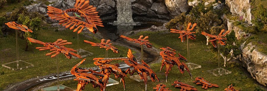 Shaltari forces swarm across the countryside