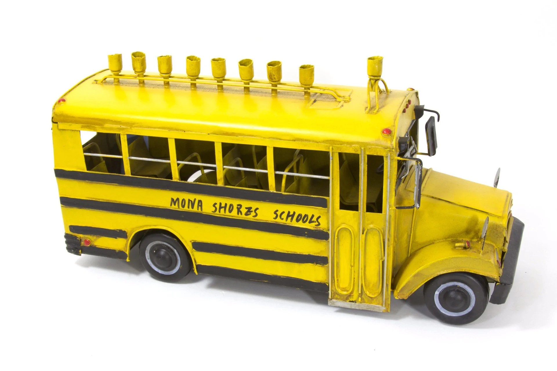 Antique Metal School Bus Menorah Moderntribe