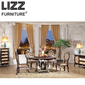 marble living room furniture corner chairs dining table set royal luxury antique style round chesterfield