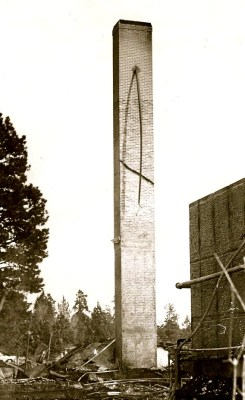 The Allen School Fire Chimney - Bend Oregon - December 17th, 1963