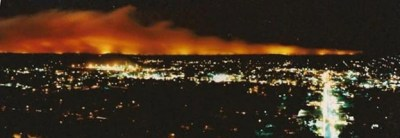 Awbrey Hall Fire Bend Oregon c. 1990 as seen from Pilot Butte