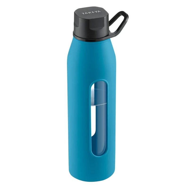 Takeya® Classic Flip Cap - 22 Oz. Glass Bottle - Cobalt ...