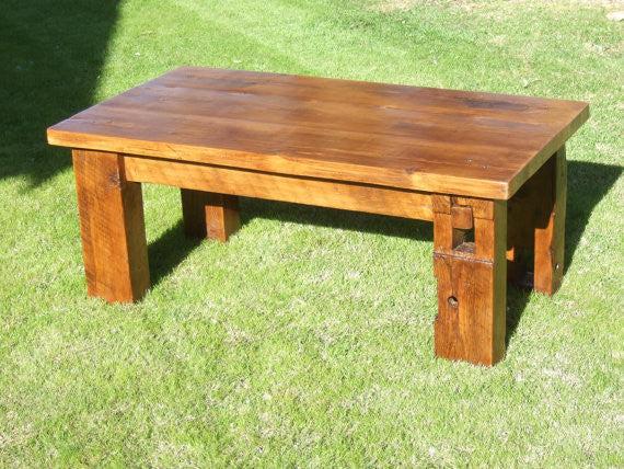 the bartlett barn beam coffee table