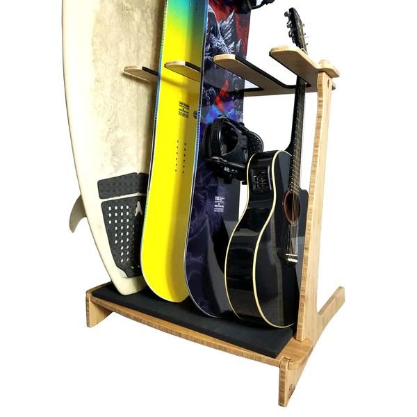 surfboard rack snowboard rack guitar rack vertical freestanding indoor board storage rack