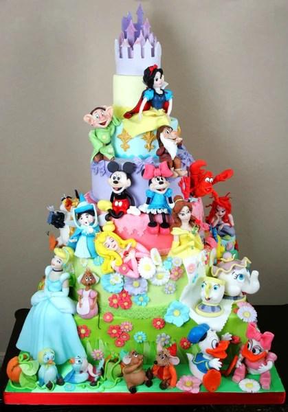 Amazing Disney Characters Cake  Bickiboo Designs
