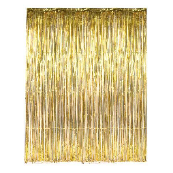 Metalic Gold Foil Fringe Curtain Bickiboo Party Supplies