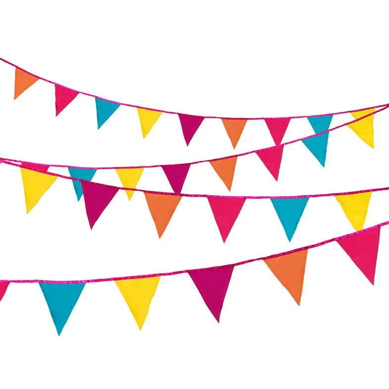 Decadent Decs Fiesta Fabric Bunting Bickiboo Party