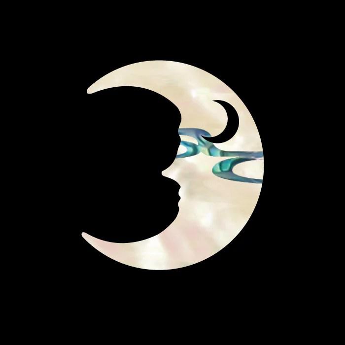 crescent moon inlay sticker