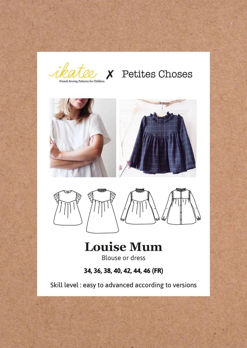 French Sewing Patterns : french, sewing, patterns, Louise, Blouse, Dress, Sewing, Pattern, Ladies, 34/46, Ikatee, Simplifi, Fabric