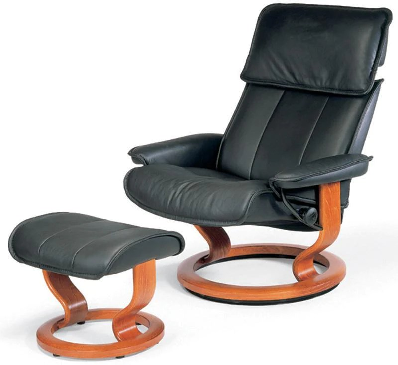 recliner vs chair with ottoman office for sale admiral large classic stressless by ekornes medium
