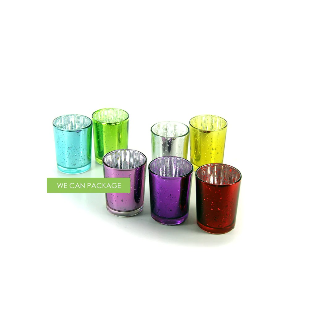 Purple Votive Candle Holders Cups Glass Bulk