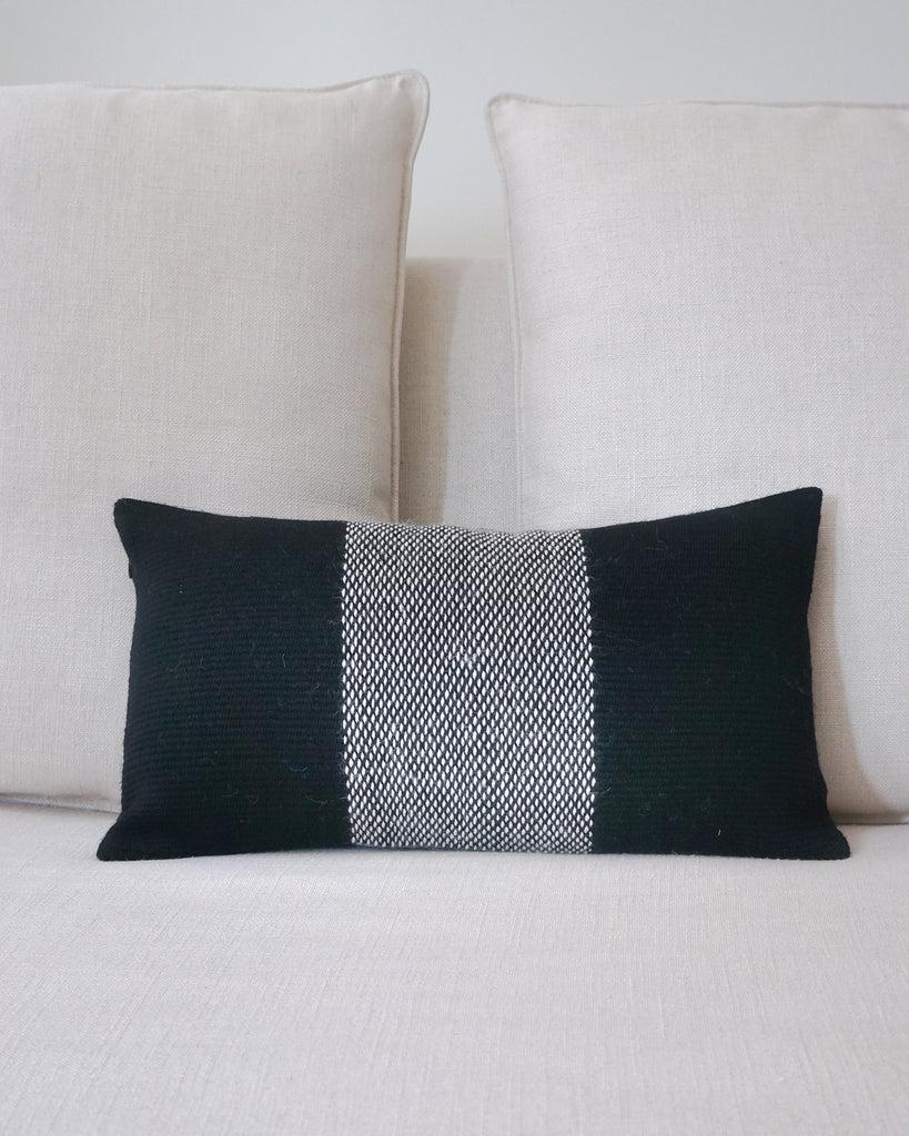 center stripe lumbar pillow 11 x 20