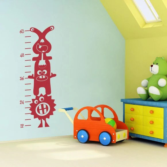 Monster growth chart silly monsters kids bedroom wall decal also decor rh stephenedwardgraphics