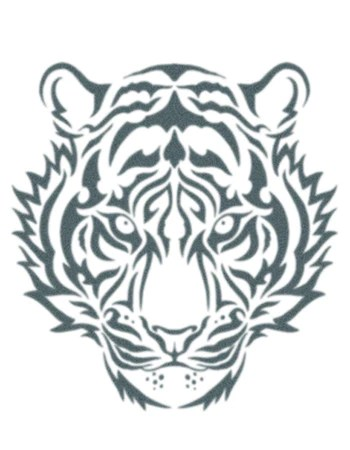 White Tiger Tribal Tattoo