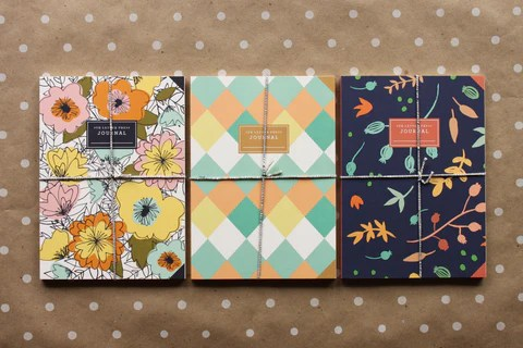 flat printed journals, 9th Letter Press, writing, journaling, Winter Park, Florida, Orlando