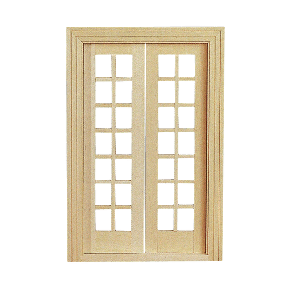 Double French Door with Mullions  Real Good Toys