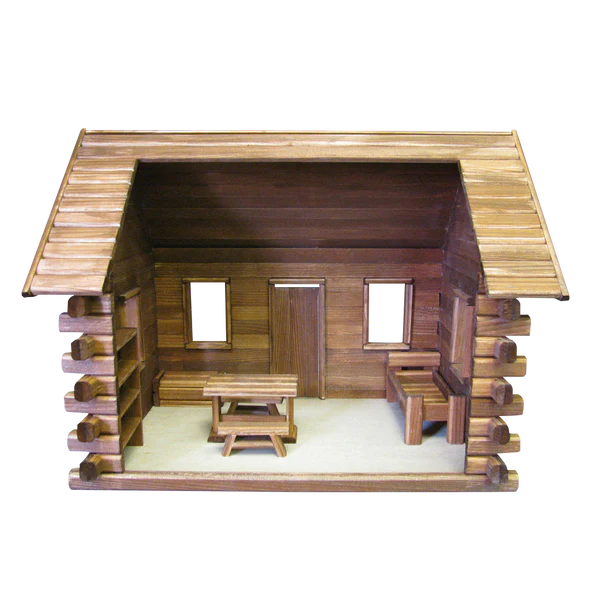 Crocketts Log Cabin Dollhouse Kit  Real Good Toys