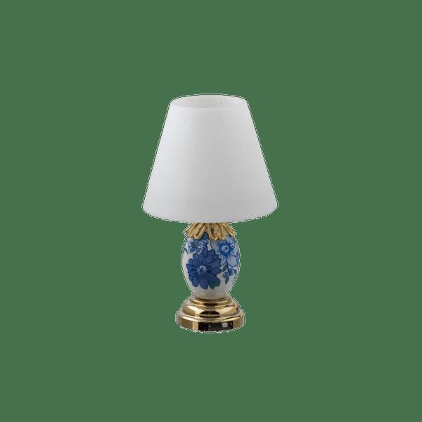 Houseworks Led Miniature Blue Amp White Floral Porcelain