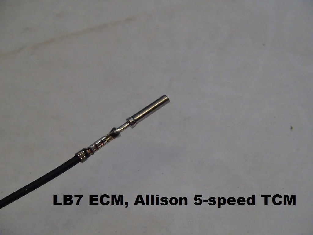 small resolution of bt dieselworks pre crimped duramax ecm pin with wire lb7 ecm wiring diagram