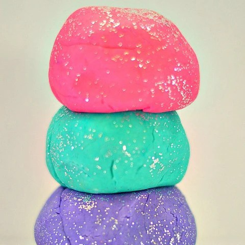 Glitter Play Dough  Build a Birthday