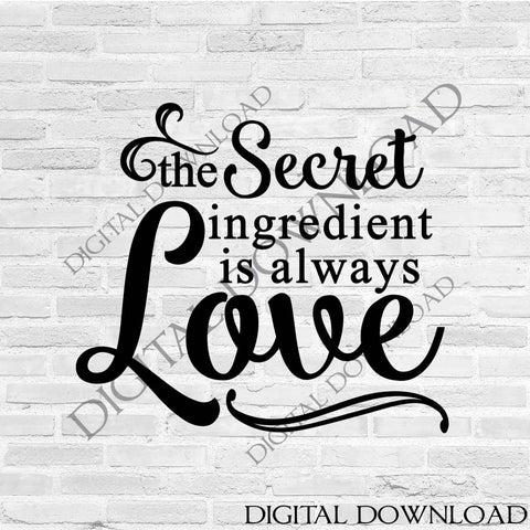 Download The secret ingredient is always love Clipart Vector ...