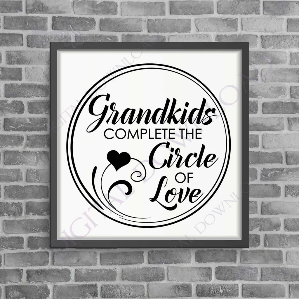 Download Grandkids circle of love SVG Quote Design Vector Vinyl ...