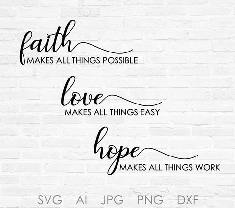 Download Faith SVG Quote Design, Love Vector Clipart Quote, Hope ...