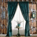 Luxury Pom Poms Velvet Curtains For Bedroom Living Room Thermal Insula Ek Chic Home